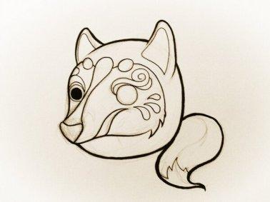 Kitsuneruma sketch by Jamie Noguchi